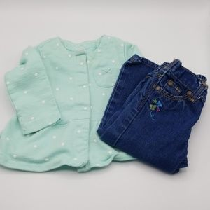 2 for $10 Size 12 Month Long Sleeve and Jean Set